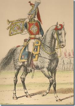 Lithographie_d_Eugene_Titeux._Trompette_des_Mousquetaires_Gris_1814_-_1815