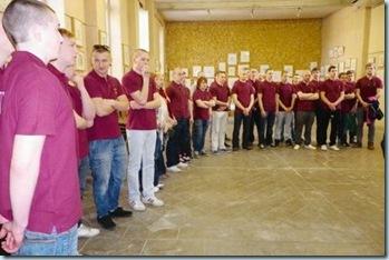 Les jeunes rugbymen lettons ravis de leur séjour en Gascogne. PHOTO LOUIS ADER